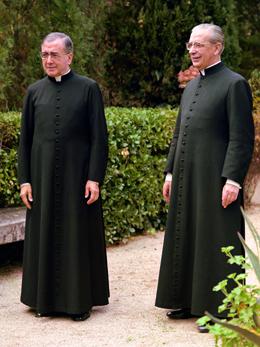 S. Josemaria com D. Álvaro del Portillo em Casteldaura (Barcelona), a 27 de novembro de 1972