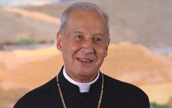 Mgr Xavier Echevarría, durant la célébration de la Messe // PHOTO: Manuel Castells