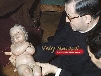 Weihnachten 2: Der hl. Josefmaria mit dem Jesuskind. Rom, Weihnachten 1968