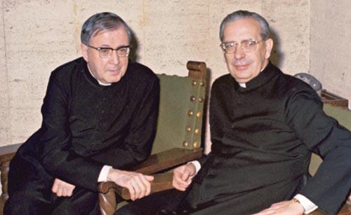 São Josemaria Escrivá e D. Álvaro del Portillo, janeiro de 1974