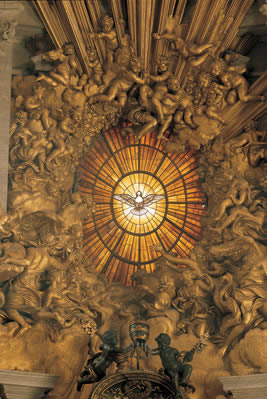 Mozaik prikazuje Duha Svetoga u Bazilici svetoga Petra u Rimu