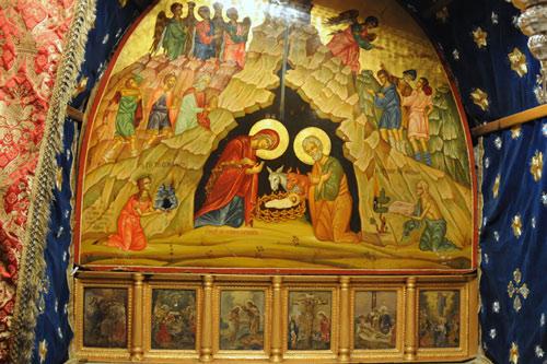 Pala d'altare sopra il luogo della nascita di Gesù. Foto: Leobard Hinfelaar.