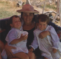 Avec ma tante Pilar