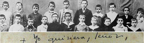 Josemaría Escrivá ist der dritte von links in der oberen Reihe