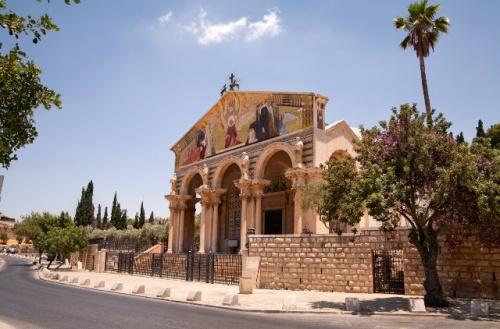 La basilique de l'Agonie est dite aussi de Toutes les Nations étant donné que seize pays souscrivirent à la construction. Signée : Israel Tourism (Flickr).