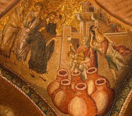Mosaik der Kirche zum heiligen Erlöser in Chora, in Istambul