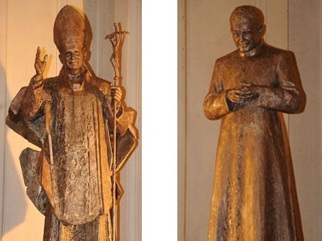 Le nuove statue della chiesa di Santa Engracia, a Saragozza (Spagna).