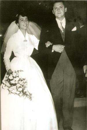 Eliana i Tito na dan svojega vjenčanja.