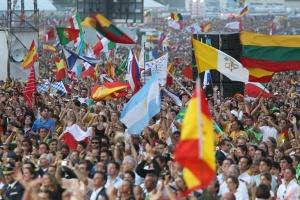 Uma amostra da variedade de nacionalidades presentes na JMJ 2011