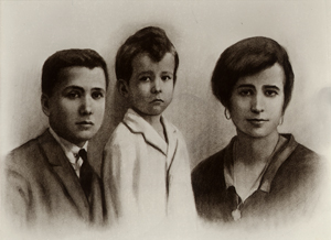 Josemaria with his brother Santiago and sister Carmen