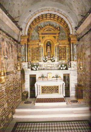 De kapel van het heiligdom van Onze Lieve Vrouw van Loreto, Italië