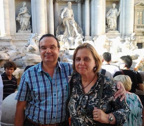 Luis et sa femme à Rome