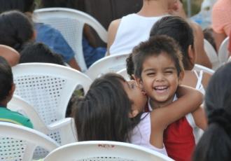 Mit den KIndern im Arbeitscamp von Nicaragua, 2012