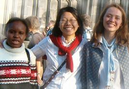 Hier treffen sich Studentinnen aus allen Kontinenten