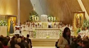 Interior da Igreja ao terminar a cerimónia