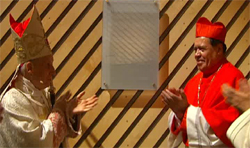 D. Javier Echevarría com o Cardeal Norberto Rivera Carrera ao terminar a celebração