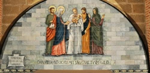 Darstellung im Wallfahrtsort Torreciudad (Spanien)
