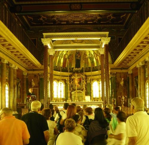 All'interno della Chiesa di Santa Maria della Pace