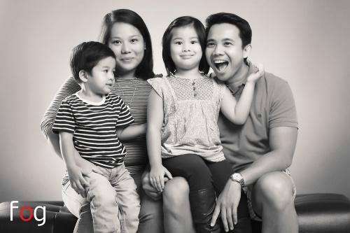 Pammy mit ihrem Mann und ihren beiden Kindern