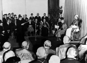 Paolo VI al Centro Elis, nel Tiburtino, 1965