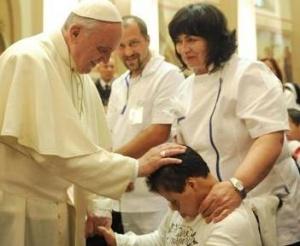 El Papa Francisco durante su visita a Asís.