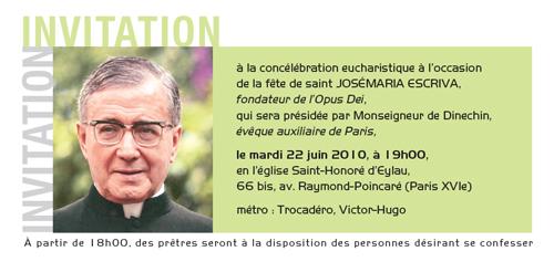 Invitation à la Messe à Paris
