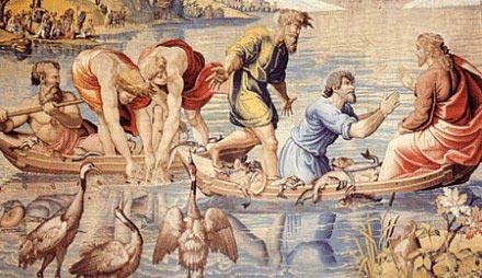 """Palazzo Ducale di Mantova, """"Sala degli Arazzi"""", La pesca milagrosa"""