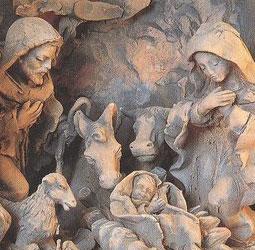 Sanctuaire franciscain de la Crèche, à Greccio. Fait en terracota par L. Agnini.