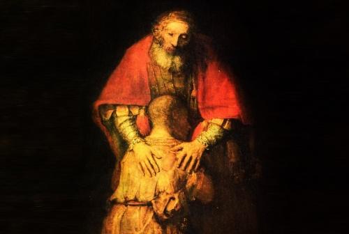 El retorno del hijo pródigo, Rembrandt.  Museo del Ermitage de San Petersburgo .