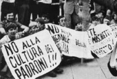 Studentenproteste in Mailand, 1968
