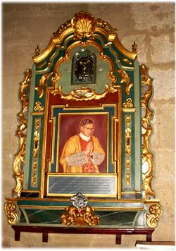 Retable en l'église Saint-Nicolas, à Cordoue