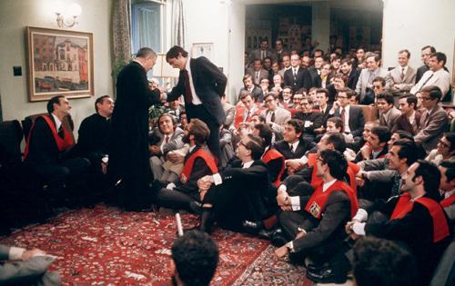 Durante um encontro com jovens em Madrid, a 24 de outubro de 1972