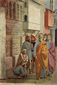 MASACCIO, St Peter healing the sick with his shadow, 1426-7