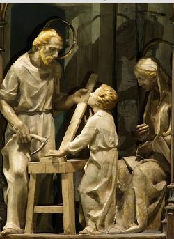 Ausschnitt aus dem Altarbild der Wallfahrtskirche von Torreciudad