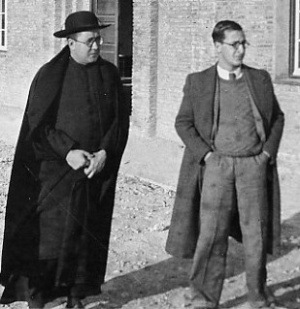 San Josemaría con Juan Jiménez Vargas.