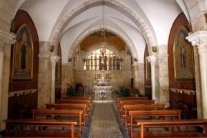 Interior da igreja da Flagelação. Firma: Benjamin E. Wood (Flickr).
