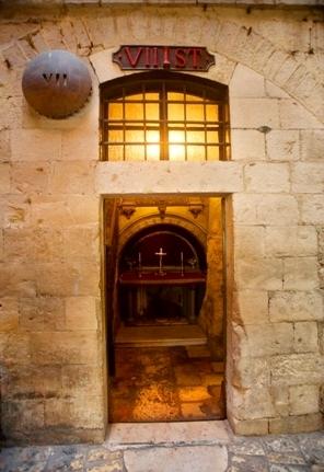 Die Kapelle der siebten Station ist zweigeteilt; auch sie gehört dem Verein des Heiligen Landes. Firma: Israel Tourism (Flickr).