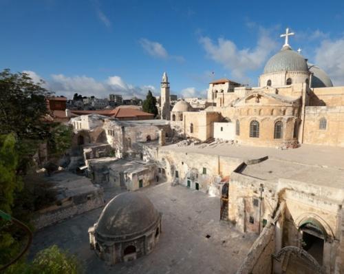 Von der neunten Station kann man über die Terrasse des äthiopischen Konvents in den Innenhof der Grabeskirche kommen. Firma: Marie-Armelle Beaulieu/CTS.