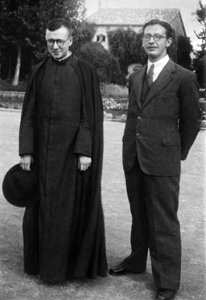 St Josemaria with Alvaro del Portillo