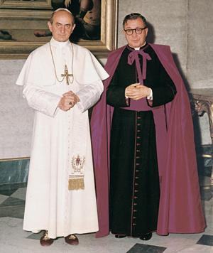 De heilige Jozefmaria na een audiëntie bij paus Paulus VI.
