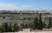 Widok na Jerozolimę z miejsca gdzie Jezus zapłakał nad tym miastem
