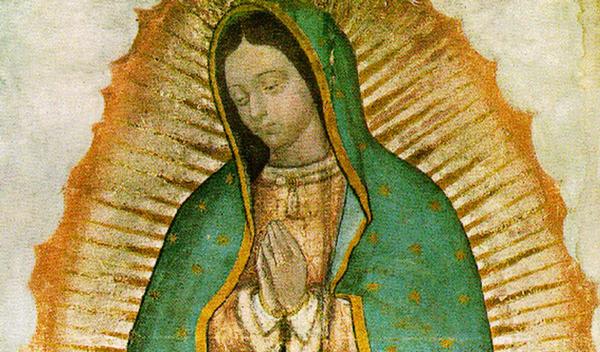 Davanti alla Madonna di Guadalupe