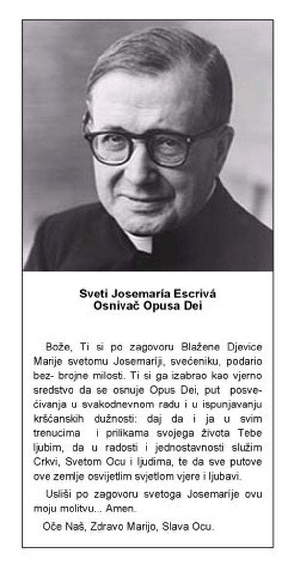 Molitva svetoga Josemarije