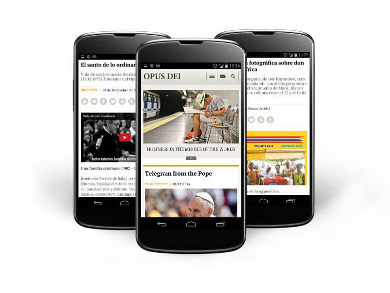 Opus Dei - Pro smartphony a tablety