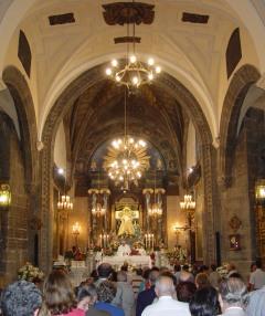 Interior de la ermita.