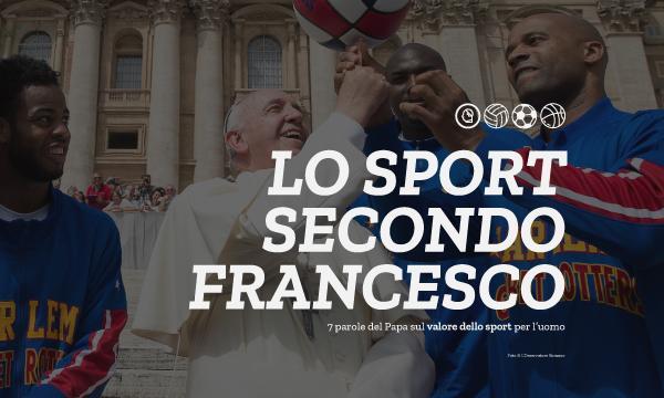 Papa Francesco spiega lo sport in 7 parole