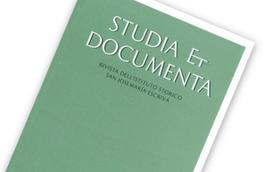 "Publicado el 9º volumen de ""Studia et Documenta"""