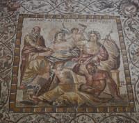 Mosaïque romaine dans la ville de Bosra, en Syrie