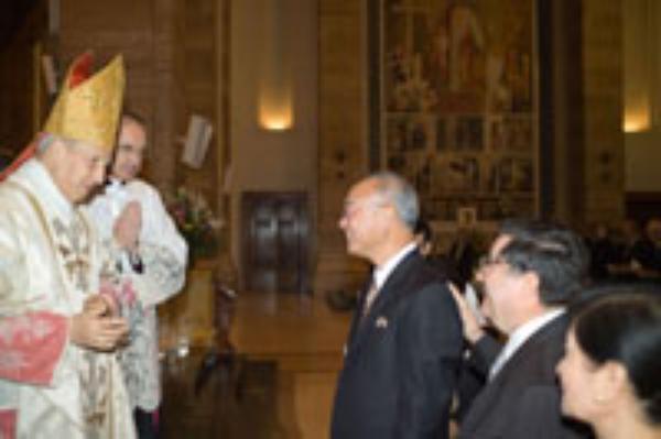 Il battesimo dell'ambasciatore di Taiwan presso la Santa Sede