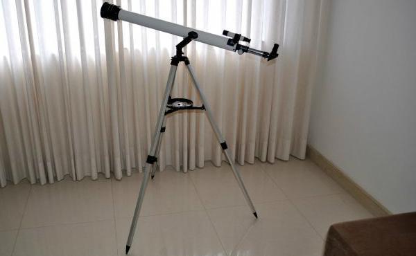 As lentes de um telescópio
